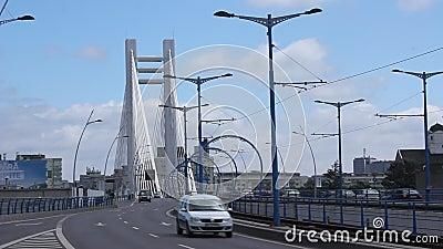 Traffic on Basarab bridge