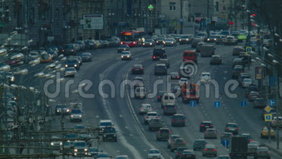 Traffic in the big city stock video footage