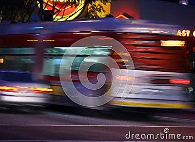 Traffic, blurred motion