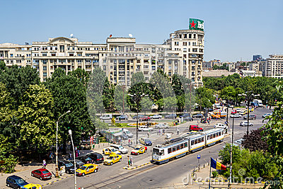 Traffic in Bucharest Editorial Image
