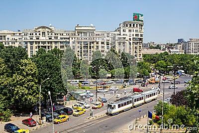 Traffic in Bucharest Editorial Image