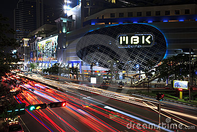 Traffic in city at night Editorial Photo
