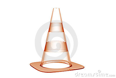 Traffic cone 3D xray orange