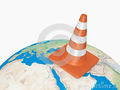 Traffic Cone on Earth