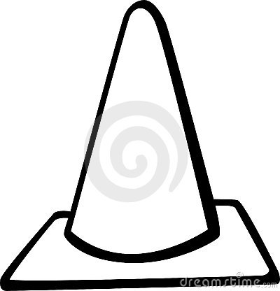 traffic cone road signal vector illustration