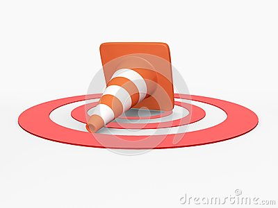 Traffic Cone on Target