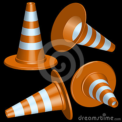 Free Traffic Cones Stock Image - 24611611