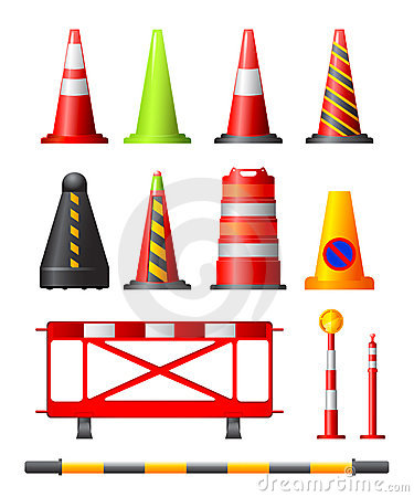 Free Traffic Cones, Drums & Posts Stock Photography - 7173302