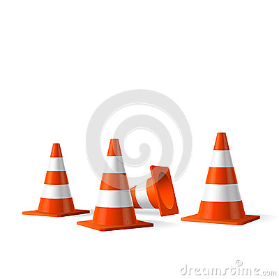 Free Traffic Cones  Isolated Object Stock Photos - 32747823