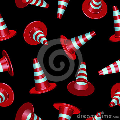 Traffic cones pattern