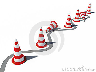 Traffic cones road 3d cg