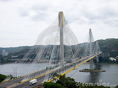 Traffic Highway and Ting Kau Bridge