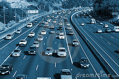 Traffic on the Hollywood 101