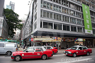 Traffic on Hong Kong street Editorial Stock Image