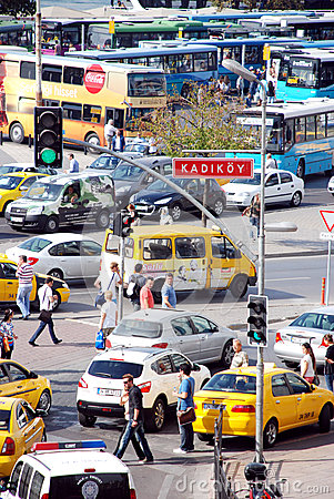 Traffic in Istanbul Editorial Stock Photo