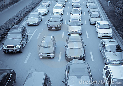 Traffic jam Editorial Stock Photo
