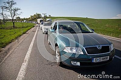Traffic jam Editorial Stock Photo