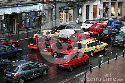 Traffic jam Editorial Image