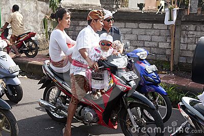 Traffic jam in Bali Editorial Stock Image
