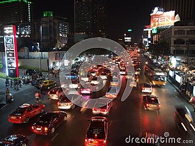 Traffic jam in Bangkok Editorial Stock Photo