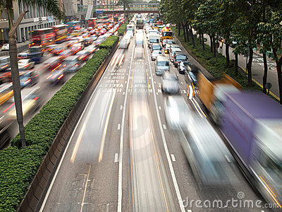 Traffic Jam in Hong Kong