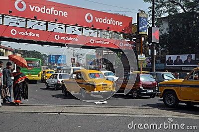 Traffic Jam in Kolkata Editorial Photography