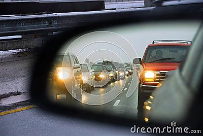 Traffic jam mirror