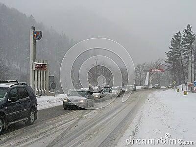 Traffic jam at the Prahova district Editorial Stock Photo
