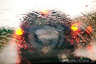 Traffic Jam During Rain Royalty Free Stock Image - Image: 15831306