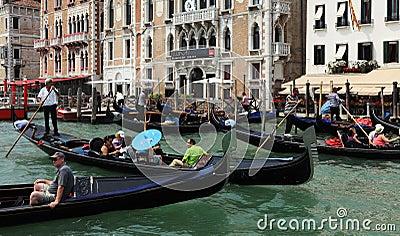 Traffic jam in Venice Editorial Image