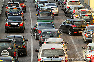 Traffic jams at rush hour. Editorial Stock Photo