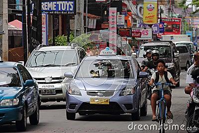 Traffic at Kuta, Bali Editorial Stock Image