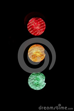 Traffic Light On Black Free Public Domain Cc0 Image