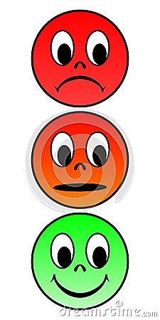 Traffic light faces