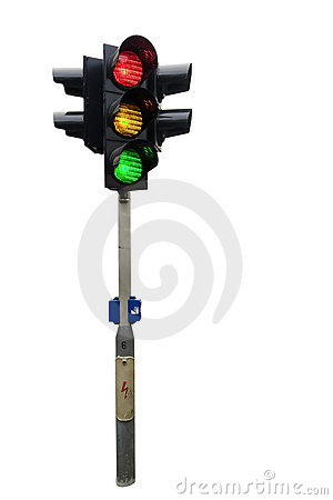 Free Traffic Light Isolated Stock Photography - 631512