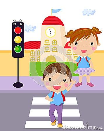 Traffic light kid