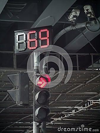 Traffic light in low key