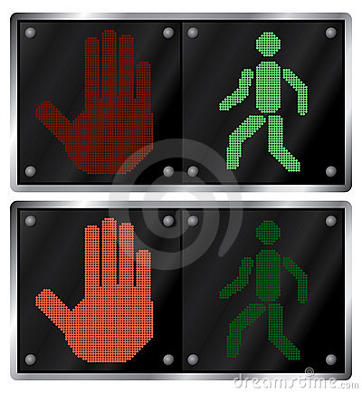 Traffic light for people.