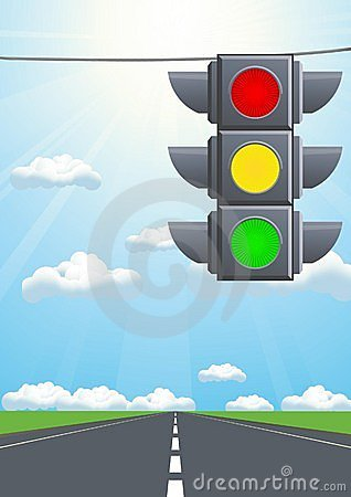 Traffic light in the sky