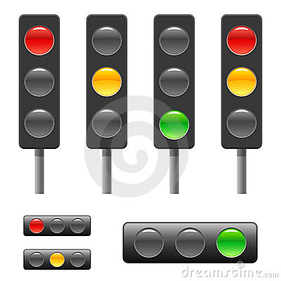 Free Traffic Light & Status Bar Royalty Free Stock Photography - 12988127