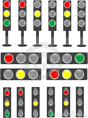 Traffic light & status bar semaphore