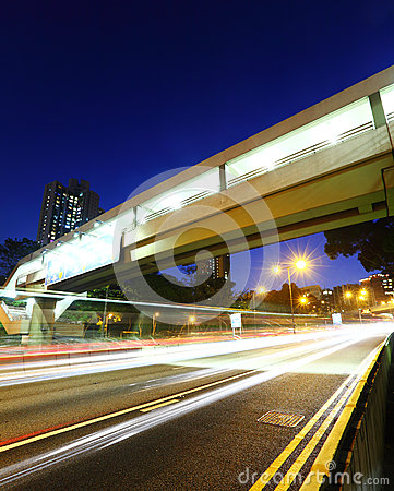 Traffic Light Trail on Highway