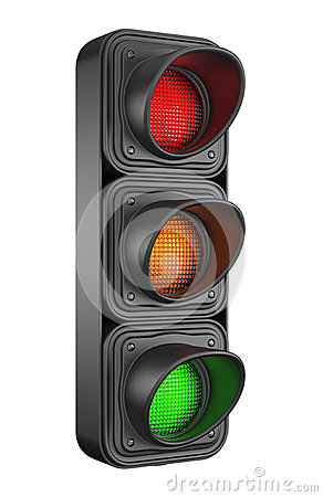 Traffic lights 3d. Movement road control
