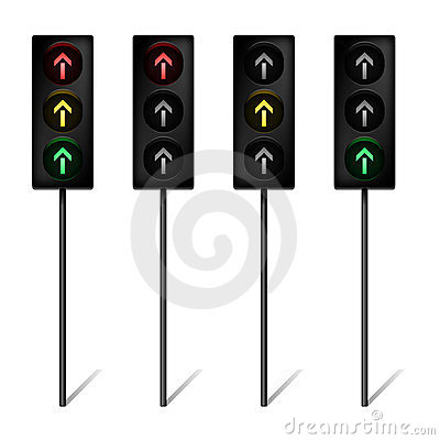 Traffic lights with arrows