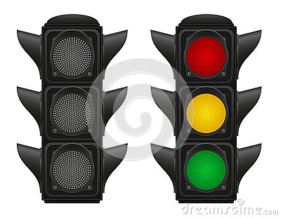 Traffic lights for cars vector illustration Vector Illustration