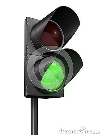 Traffic lights green