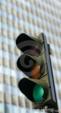 Traffic lights on green