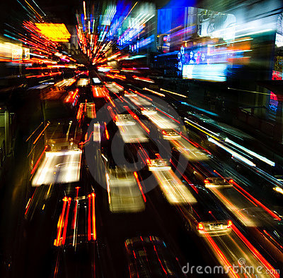 Free Traffic Lights In Motion Blur Stock Image - 7892711