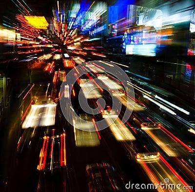Free Traffic Lights In Motion Blur Stock Image - 7892711