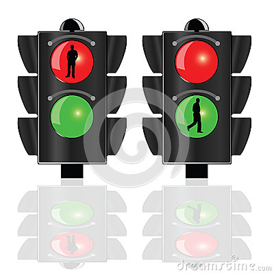 Traffic lights for pedestrians vector Vector Illustration